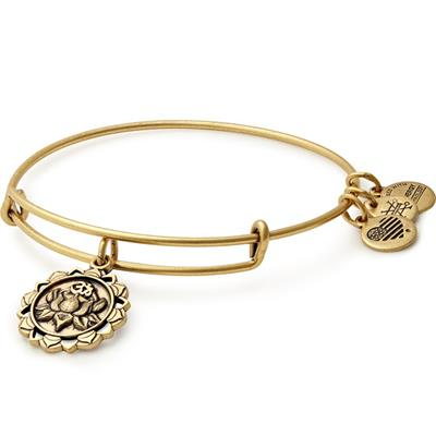 Buy Alex and Ani Lotus Peace Petals bangle in Rafaelian Gold Finish