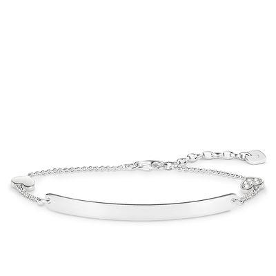 Buy Thomas Sabo Silver Diamond Heart Love Bridge Bracelet 19cm