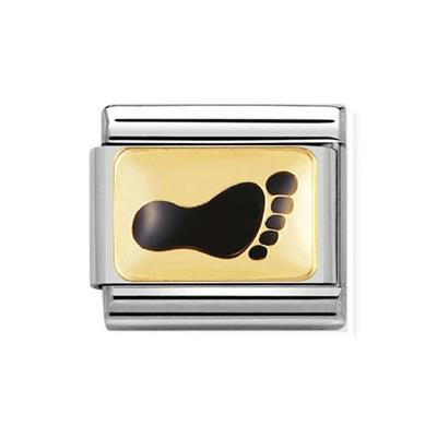 Buy Nomination Black and Gold Foot Charm