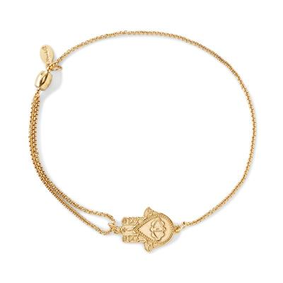 Buy Alex and Ani Hand of Fatima Precious Pull Chain Bracelet in Gold
