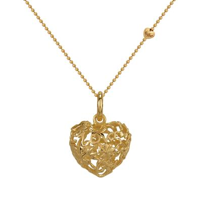 Buy Blossom Small Gold Love Heart Necklace