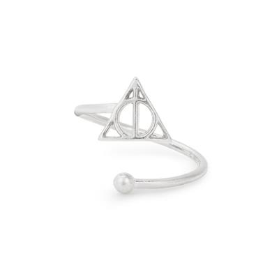 Buy Alex and Ani Harry Potter Deathly Hallows Adjustable Precious Ring in Silver