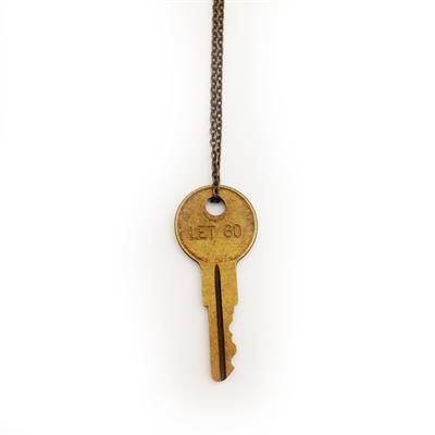 "Buy Giving Keys LET GO Dainty Gold 18"" Key Necklace"