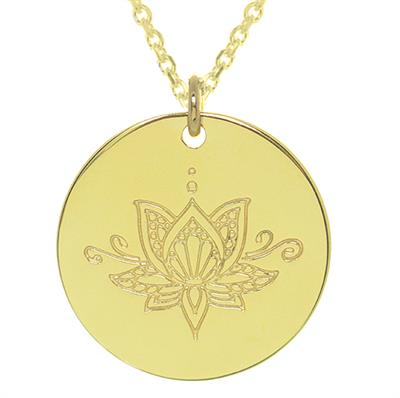 Buy MyMantra Gold Ornate Lotus Personalised Necklace 80cm