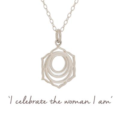 Buy Mantra Sacral Chakra Necklace in Sterling Silver
