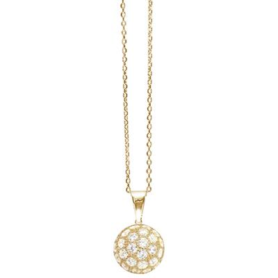 Buy Tresor Paris Allure Gold & White Crystal Orb Necklace