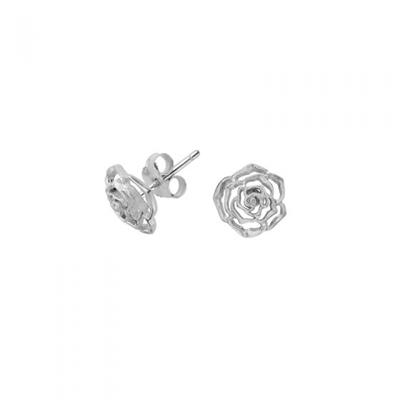Buy Dower and Hall Silver Wild Rose 10mm Stud Earrings