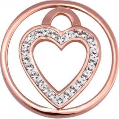 Buy Nikki Lissoni Rose Gold Love Keeper Coin 23mm