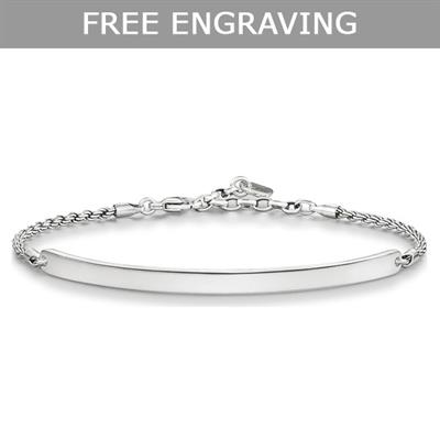 Buy Thomas Sabo Love Bridge Oxidised Silver Bracelet Medium