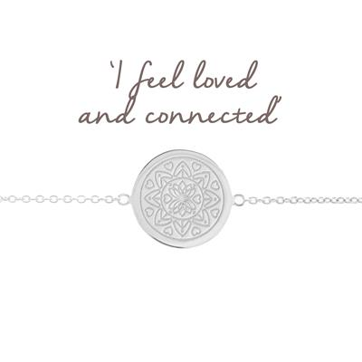 Buy Mantra Love Mandala Disc Bracelet in Silver