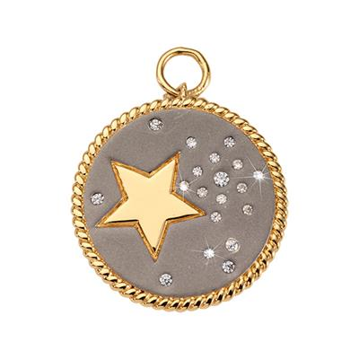 Buy Nikki Lissoni Gold Grey Sky Amulet