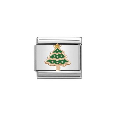 Buy Nomination Rose Gold Enamel Christmas Tree