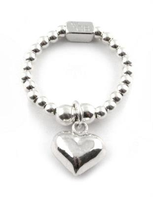 Buy ChloBo Standard Silver Mini Heart Ring