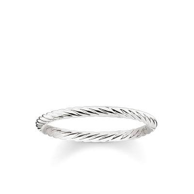 Buy Thomas Sabo Silver Slim Twist Ring 52