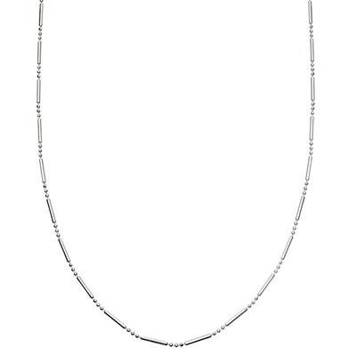 Buy Daisy Silver Simple Stacked Necklace