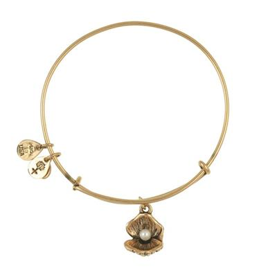 Buy Alex and Ani Oyster Bangle in Rafaelian Gold Finish