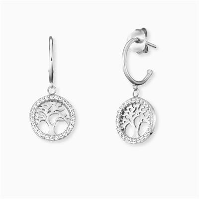 Buy Engelsrufer Tree of Life Hoop Earrings in Sterling Silver