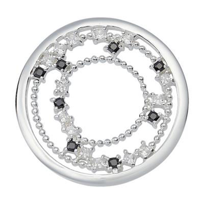 Buy Nikki Lissoni Silver Square Crystal Coin 33mm