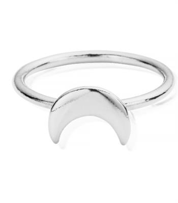Buy ChloBo Silver Moon Ring Small