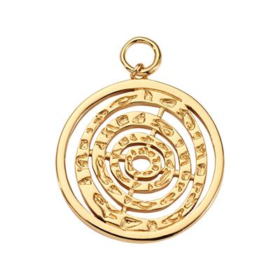 Buy Nikki Lissoni Gold Hammered Spiral Amulet