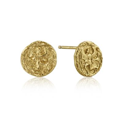 Buy Ania Haie Coins Gold Textured Earrings
