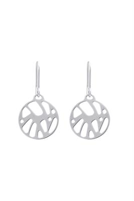 Buy Les Georgettes Silver Perroquet Round Drop Earrings