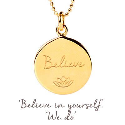 Buy Mantra Believe Necklace in Gold