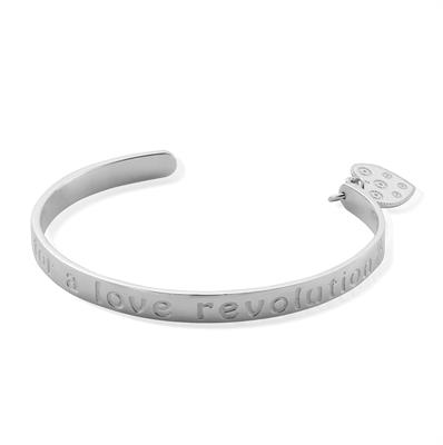 Buy ChloBo Love Revolution Bangle in Silver