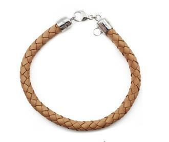 Buy Thomas Sabo Light Brown Leather Charm Bracelet XS