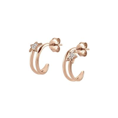 Buy Nomination Rose Gold CZ Stella Hoop Earrings