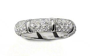 Buy Thomas Sabo White Cubic Zirconia Bamboo Ring Size 54