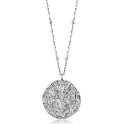 Buy Ania Haie Silver Beaded Chain Coin Necklace