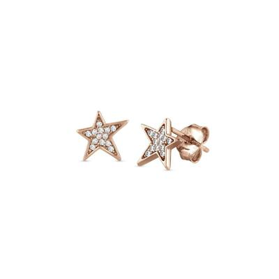 Buy Nomination Rose Gold CZ Star Earrings