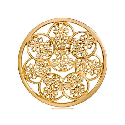 Buy Nikki Lissoni Yellow Gold Circle Daisies Coin 43mm
