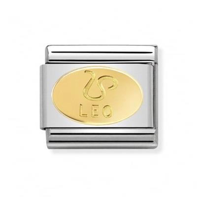 Buy Nomination Gold Leo Oval Zodiac Charm