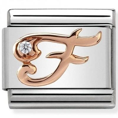 Buy Nomination Rose Gold CZ Letter F