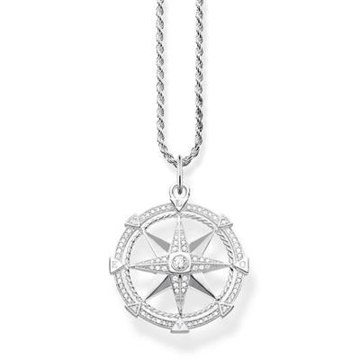 Buy Thomas Sabo Sterling Silver CZ Compass Necklace