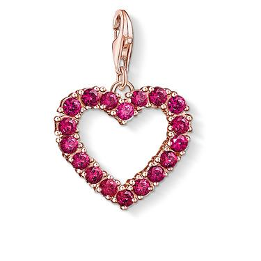 Buy Thomas Sabo Rose Gold Red CZ Heart Charm