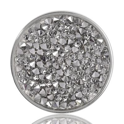 Buy Nikki Lissoni Silver Clear Rock Crystal Coin 33mm