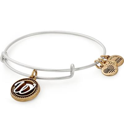 Buy Alex and Ani W Initial Two-Tone Bangle