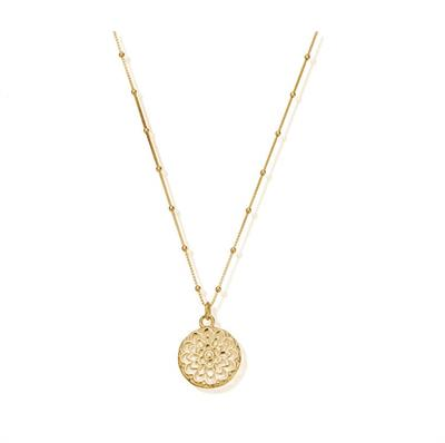 Buy ChloBo Cherabella Moon Flower Gold Plated Necklace