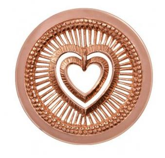 Buy Nikki Lissoni My Heart Will Protect Medium Rose Gold Coin
