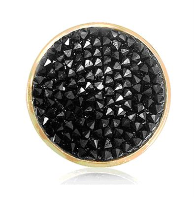 Buy Nikki Lissoni Gold Black Rock Crystal Coin 33mm