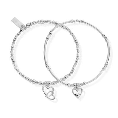 Buy ChloBo Silver Double Devotion Set of 2 Bracelets