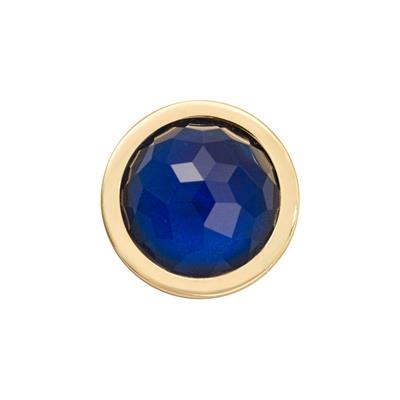 Buy Nikki Lissoni Gold Swarovski Dark Blue Ring Coin