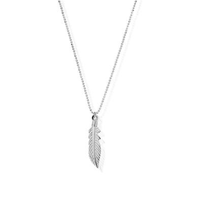 Buy ChloBo Feather Pendant with Diamond Cut Chain