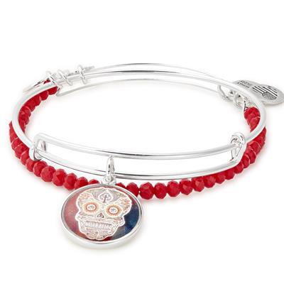 Buy Alex and Ani Calavera Art Infusion Set of 2 in Shiny Silver