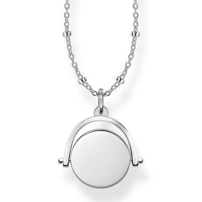 Buy Thomas Sabo Engravable Silver Spinning Coin Necklace
