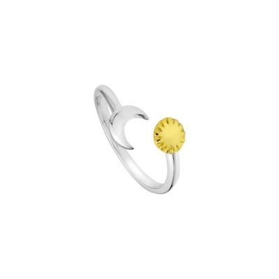 Sun And Moon Wrap Ring Size P