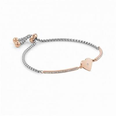 Buy Nomination Milleluci Rose Gold Heart and Cubic Zirconia Pull Chain Bracelet